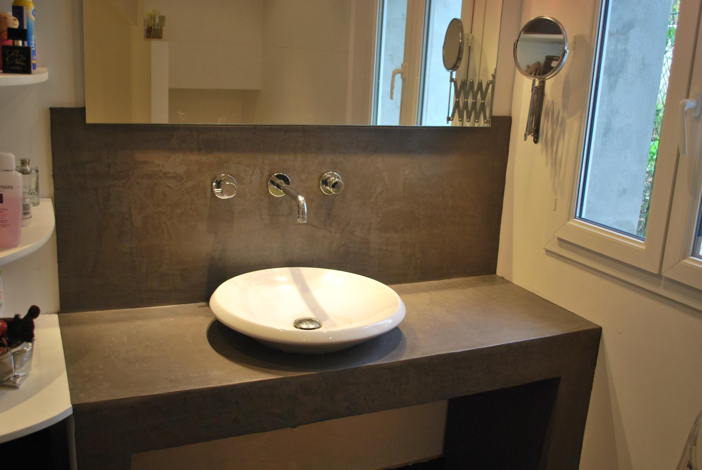 salle de bain wc b ton luxe. Black Bedroom Furniture Sets. Home Design Ideas