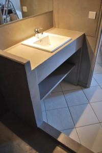 Salle de bain 01 - béton ciré - Brun de Cassel